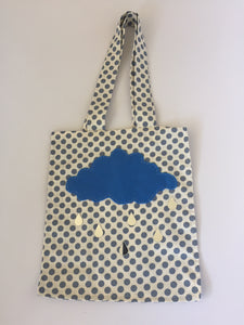 'Rainy Day' - Petite cotton tote