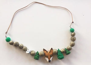 Fox + Rabbit necklace