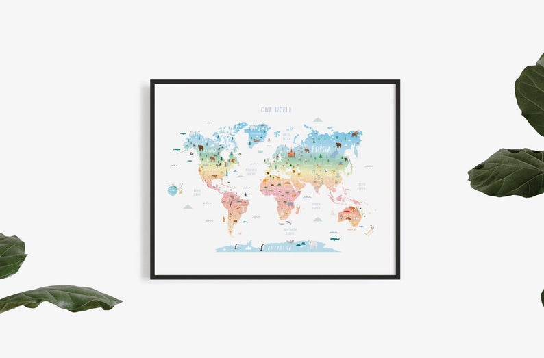 A3 World Map Poster
