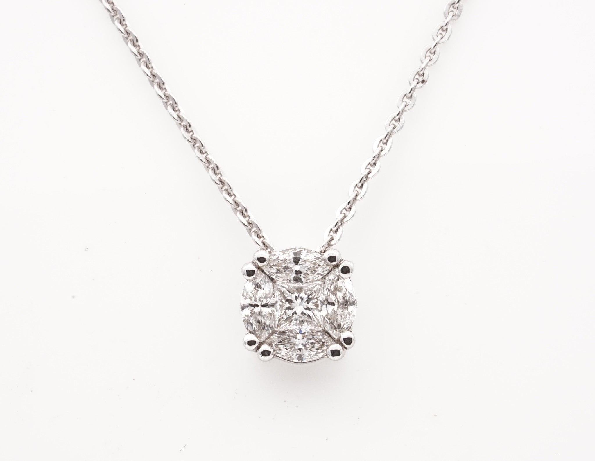 shape necklaces v one by jewelry drops marsha marquise diamond capture pendant