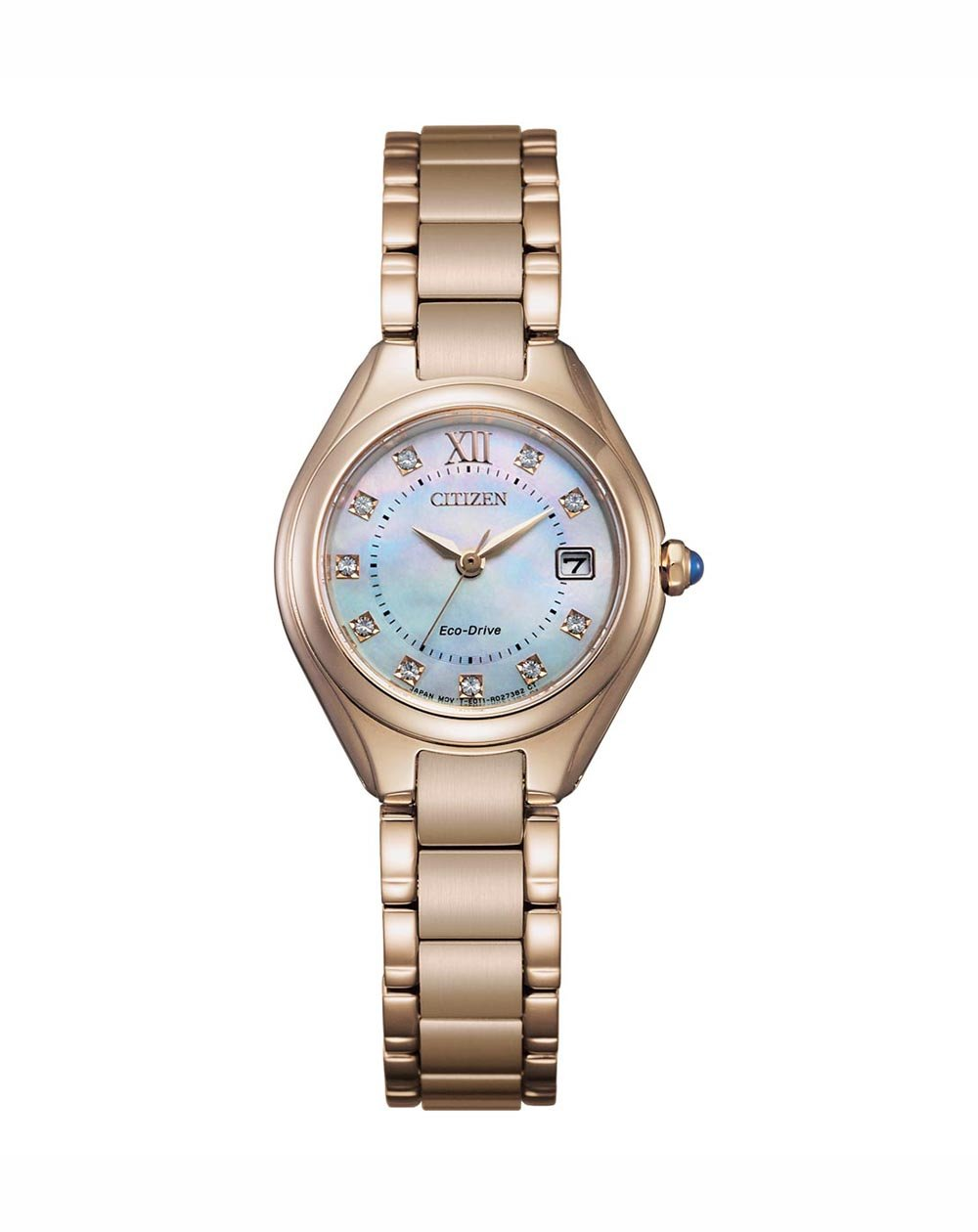 Citizen EcoDrive Rose Gold Plated MOP Watch EW2543-85D