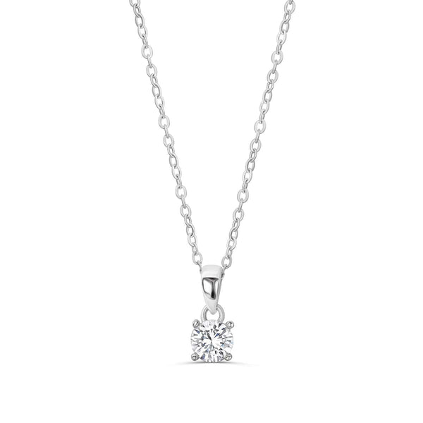 623725c2cd94 925 Sterling Silver Solitaire 1.4 Carat Cubic Zirconia Necklace 16