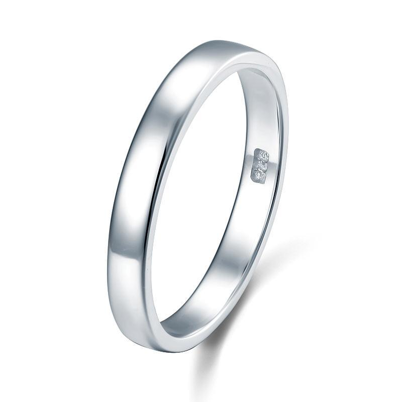 Classic Plain Solid Sterling 925 Silver Wedding Band Ring MJXFR8041