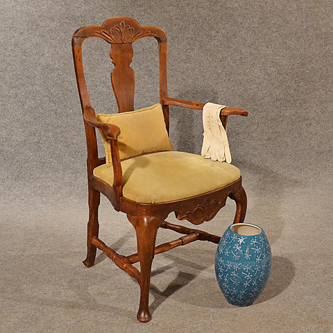 Antique Oak, Ash & Elm Study Desk Elbow Chair Large Wide Quality Armchair c1800