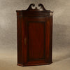 Antique Corner Cupboard Mahogany Swan Neck English Georgian Cabinet c1800 - Antique & Unique