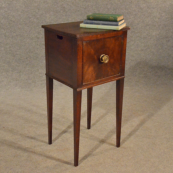 Small Bed Side Stand : Antique Small Side Cabinet Bedside Lamp Stand Pot Cupboard English Reg ...