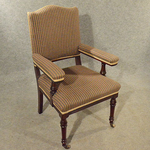 Antique Armchair Mahogany Salon Easy Chair Comfortable English Victorian c1900