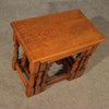 Antique Oak Nest Tables or Stools Side Occasional English Art Deco Period c1940
