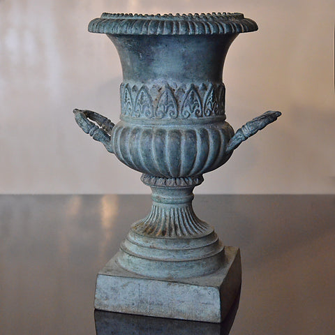 Antique Bronze Baluster Vase Flower Urn Victorian Garden Pot c1900