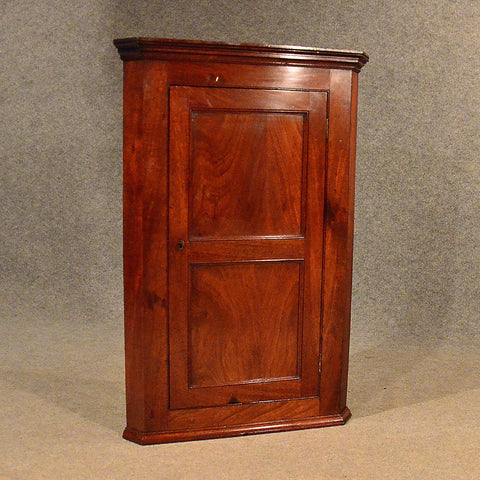 Antique Corner Cupboard Mahogany English Georgian Wall Cabinet c1800