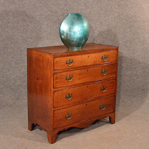 Antique Oak Chest of Drawers Tallboy English Georgian c1780