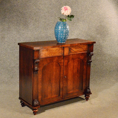 Antique Rosewood English Regency Side Cabinet Cupboard Chiffonier Quality c1820