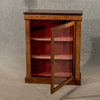 Antique Display Case China Pier Cabinet Quality Victorian Inlaid Mahogany c1900