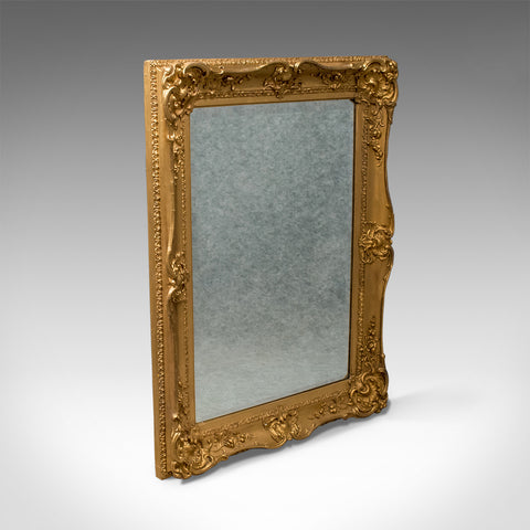 Antique Gilt Wall Mirror Ornate English Victorian Quality Bevel c1870