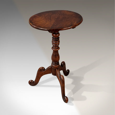 Antique Quality Georgian English Walnut Wine Side Tripod Oval Table c1800