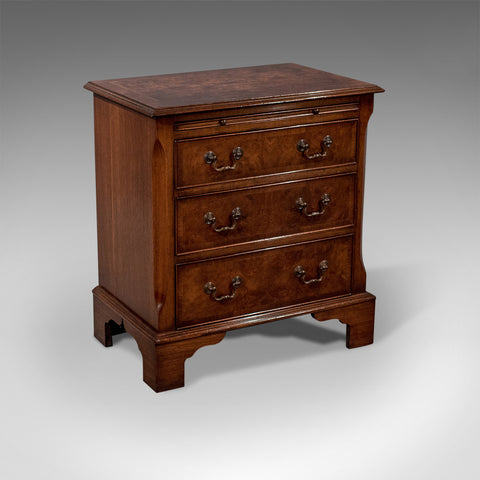 Antique Small Bachelor's Chest Drawers Fine Burr Walnut & Mahogany 20th Century