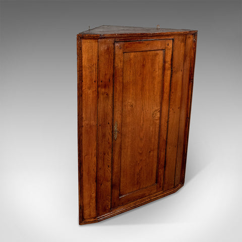 Antique Large Oak Corner Cabinet Cupboard - For a Wall or Floor Georgian c1800