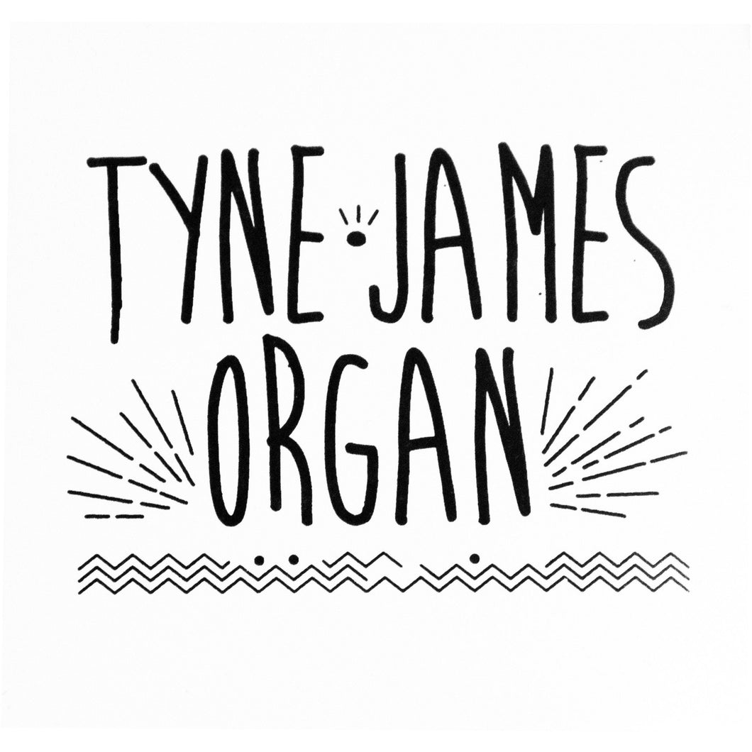 Tyne-James Organ Logo 2 x Sticker Pack