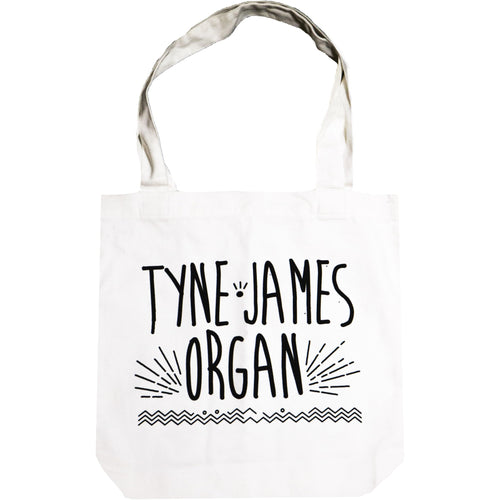 Tyne-James Organ Logo Cream Canvas Tote Bag