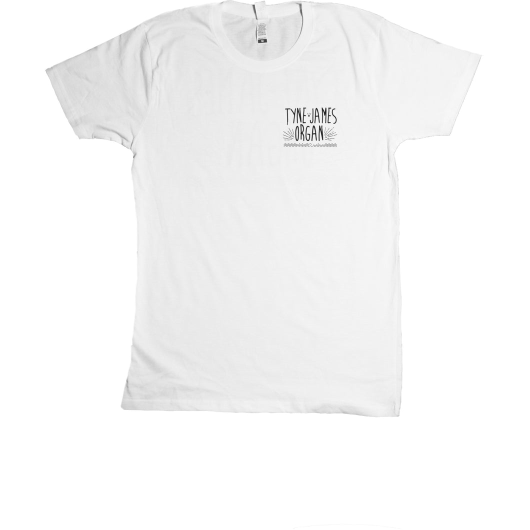 Tyne-James Organ Logo Natural White Tee