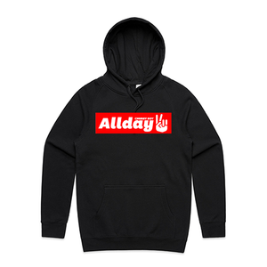 Allday Peace Sign Black Hoodie