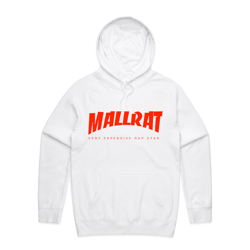 Mallrat Hoodie - White with Original Logo