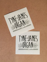Load image into Gallery viewer, Tyne-James Organ Logo 2 x Sticker Pack