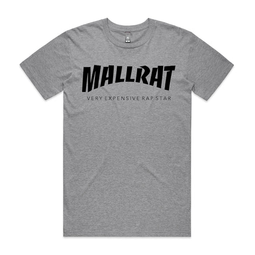 Mallrat Tee Shirt - Original Logo Grey
