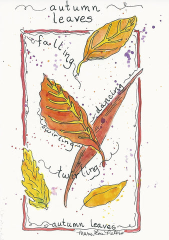 """Autumn Leaves"" Watercolor Painting"
