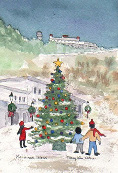 Christmas: Mackinac Island Christmas Tree
