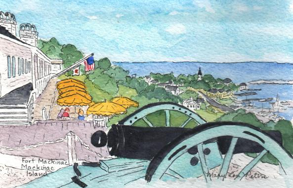 """Fort View to the East"" Watercolor Painting"