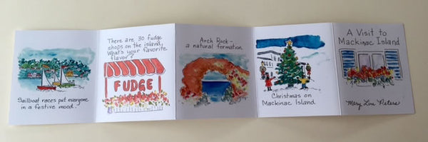 Accordion Book: A Visit to Mackinac Island