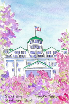 Grand Hotel Cupola at Lilac Time