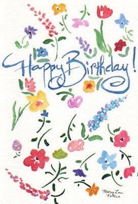 Happy Birthday Flowers (cards only)