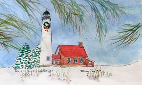 Christmas: Tawas Point Lighthouse