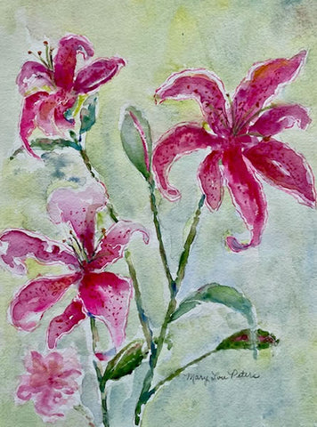 """Stargazer Lily"" Watercolor Painting"