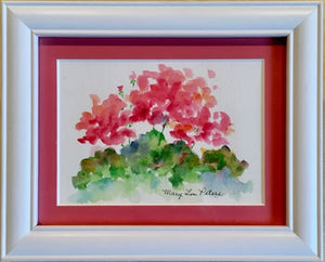 """Pink Geraniums"" Watercolor Painting"
