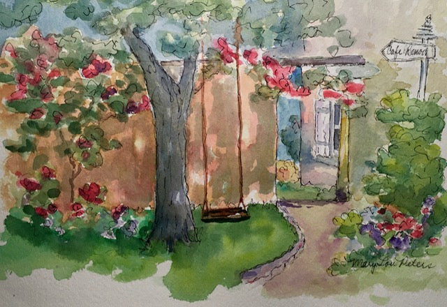 """Renoir's Garden"" Watercolor Painting"
