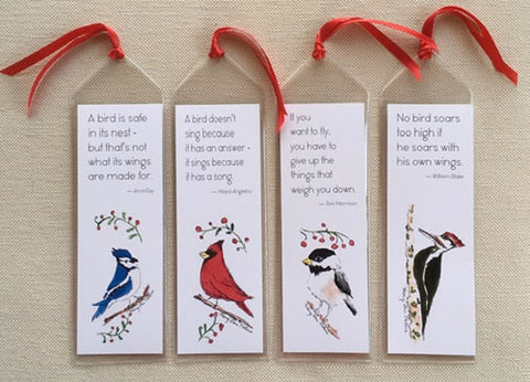 Bird Bookmarks with Quotes