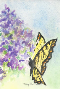Lilacs and Butterfly