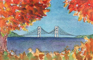 Mackinac Bridge in Autumn