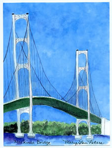 Mackinac Bridge Towers