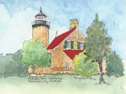 McGulpin Point Lighthouse in Summer