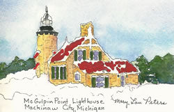 McGulpin Point Lighthouse in Winter
