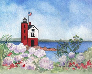 Round Island with Hydrangeas