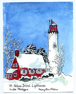 St. Helena Lighthouse - Winter
