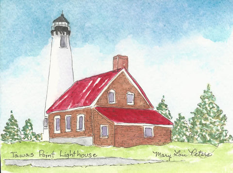 Tawas Point Lighthouse--Summer