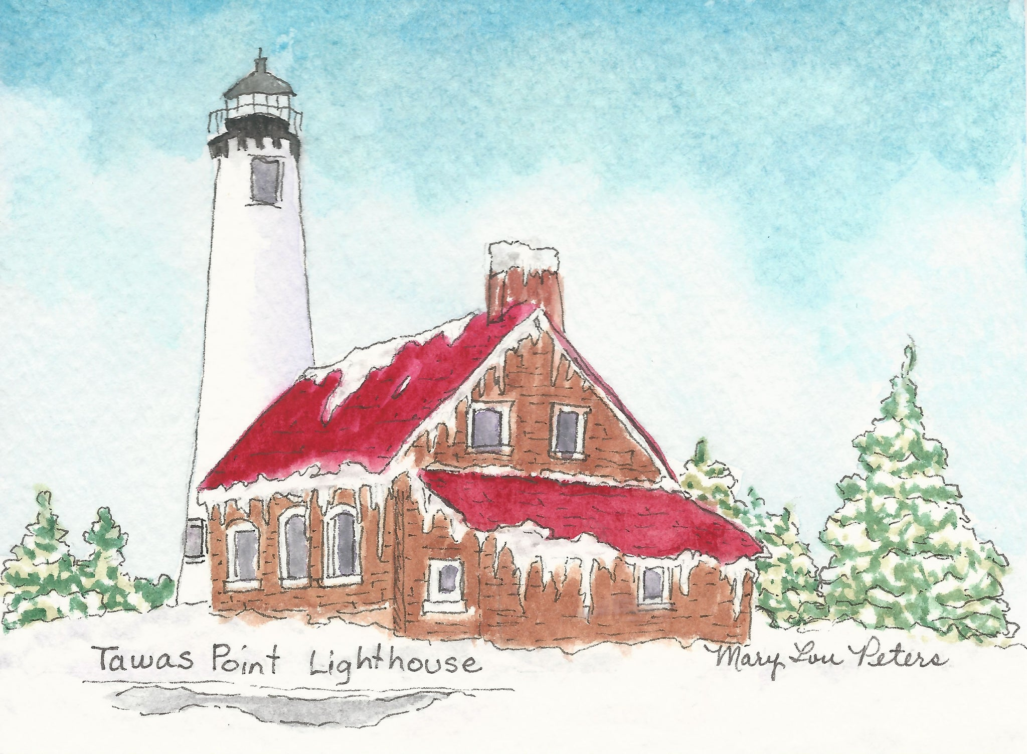 Tawas Point Lighthouse--Winter