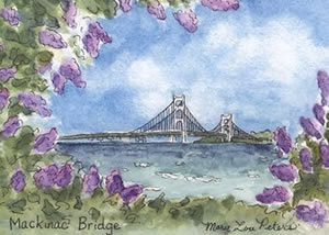 Bridge with Lilacs