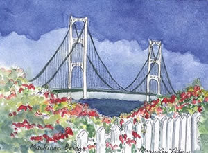 Bridge with Roses